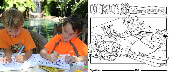 Color Your Own Mountain Themed Kids T-Shirts